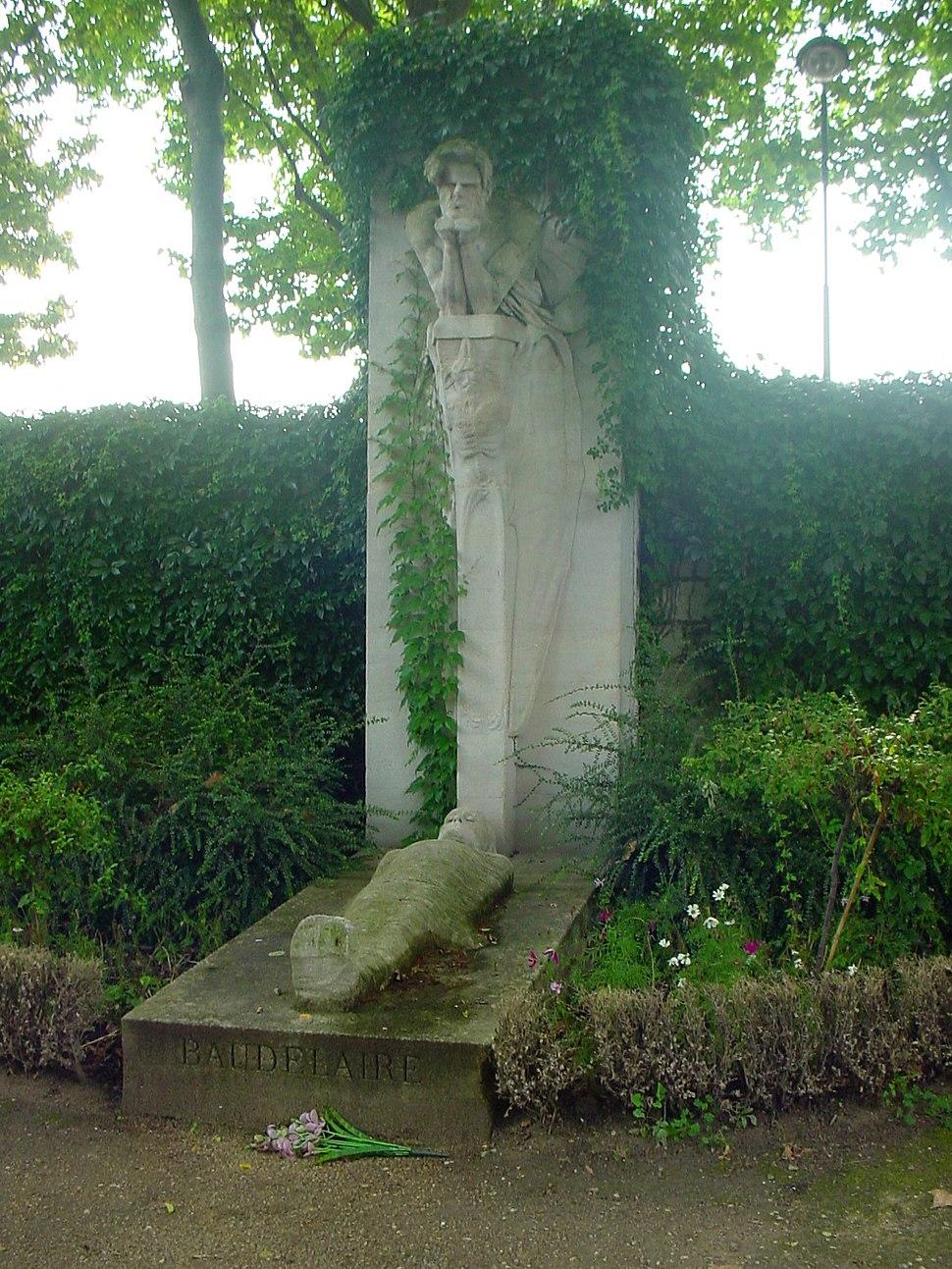 Charles Baudelaire tomb in Montparnasse Cemetery