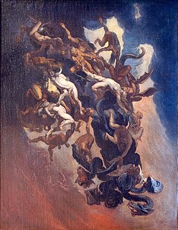 Charles Emmanuel Biset - The fall of the damned in hell