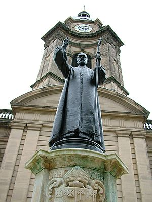 St Philip's Cathedral, Birmingham - Statue of Charles Gore, the 1st Bishop of Birmingham, by Thomas Stirling Lee