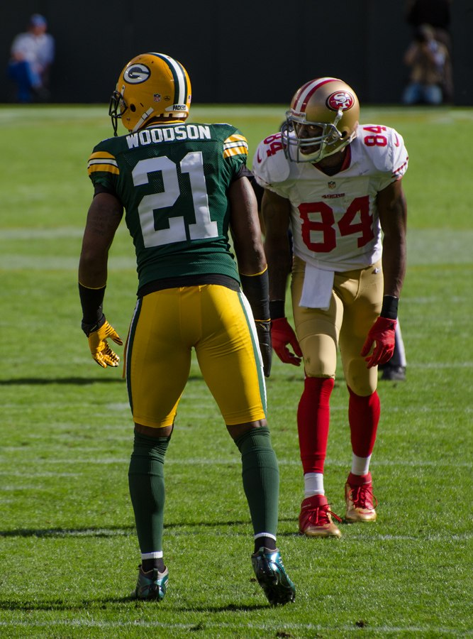 Charles Woodson and Randy Moss - San Francisco vs Green Bay 2012