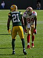 Charles Woodson and Randy Moss - San Francisco vs Green Bay 2012.jpg