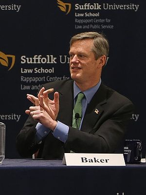 Charlie Baker - Republican candidate for governor Charlie Baker at the Rappaport Center for Law and Public Service at Suffolk Law School on February 4, 2014.