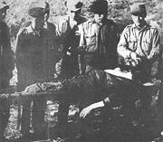 Ches Leichnam vor dem Abtransport nach Vallegrande
