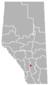 Cheadle, Alberta Location.png