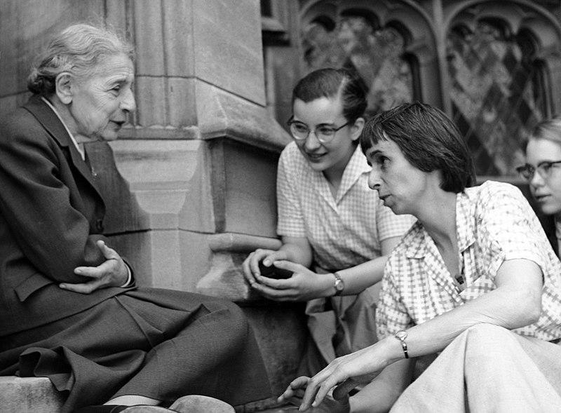 File:Chemist Lise Meitner with students.jpg