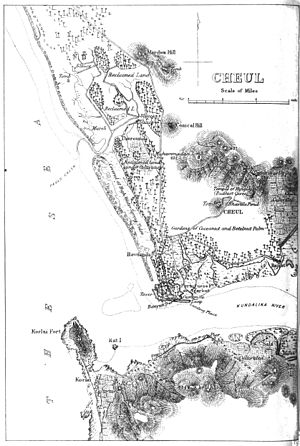Battle of Diu (1509) - 19th-century map of Chaul