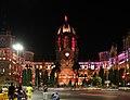 Chhatrapati shivaji terminus, esterno di notte 04.jpg