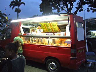 Food truck - A food truck in Nouméa, New Caledonia, serving Chinese food, 2011