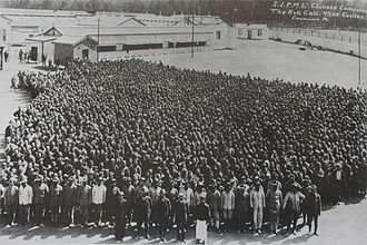 Chinese South Africans -  Around 4,200 miners at the Simmer and Jack mine on the Witwatersrand, taken between 1904 and 1910.