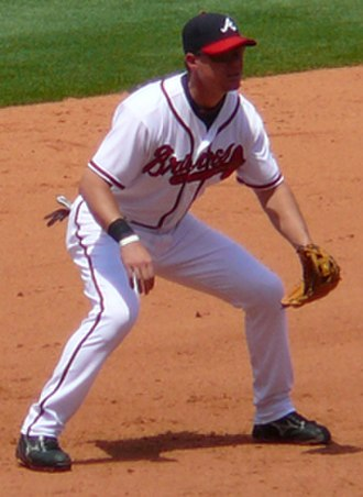 Chipper Jones - Jones playing third base in 2007.