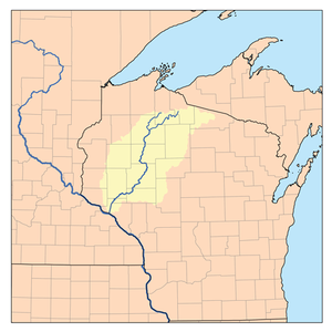 Chippewa River (Wisconsin) - A map of the Chippewa River and its watershed