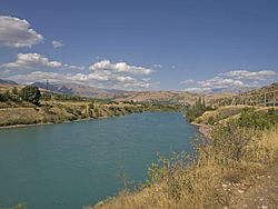 Chirchik River in Khodzhikent.jpg