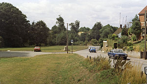 Chiseldon railway station - Site of the station in 1984