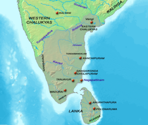 Chola government - Extent of Chola empire c.1014 CE