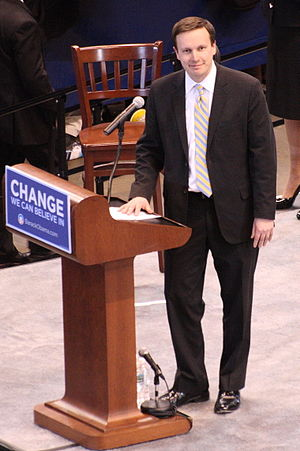 Chris Murphy (Connecticut politician) - Murphy campaigning for presidential candidate Barack Obama in 2008.
