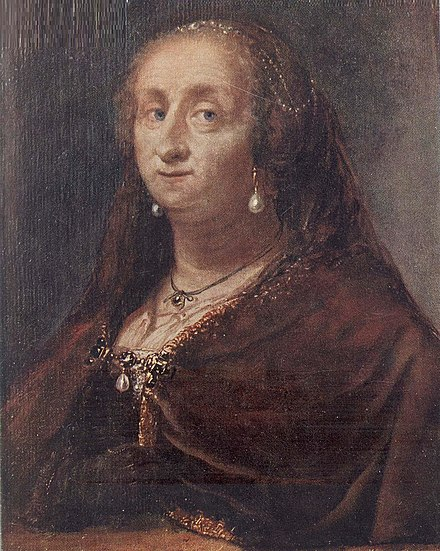 Christina in her later years Christina of Sweden (1626) c 1685.jpg