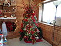 Christmas tree in Santa Claus Welcome Center 1.JPG