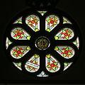 Church of the Atonement (Crooksville, Ohio) - rose window, bishop's mitre.jpg