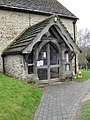 Church porch at St Mary's, West Chiltington - geograph.org.uk - 1773593.jpg