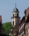 Church tower and houses of Saint-Hippolyte (Haut-Rhin).jpg