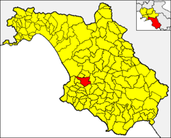 Cicerale within the Province of Salerno