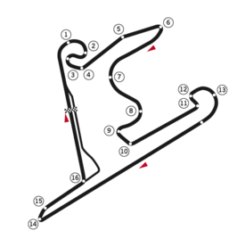 Circuit indeling Shanghai International Circuit