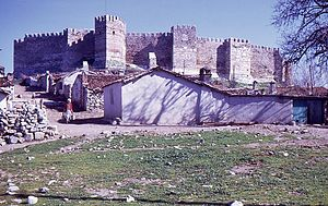 Selçuk - Selçuk town and castle in 1970
