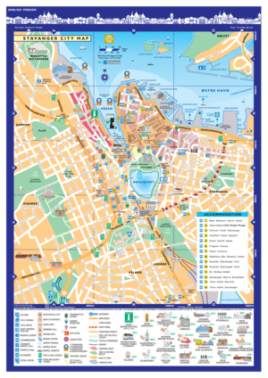 City map stavanger