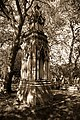 City of London Cemetery All Hallows Bread Street + St John the Evangelist Watling Street reburials monument 4 DXO FilmPack Kodak T-Max 100 Sepia preset.jpg