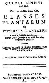 <i>Classes Plantarum</i>