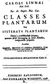 Classes plantarum cover