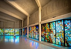 Narthex Stained Glass by Henry Haig
