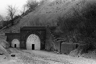 Clydach Gorge - Railway tunnel at Clydach Gorge, 1973