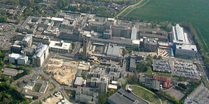Cambridge Biomedical Campus - Aerial view of part of the Cambridge Biomedical Campus