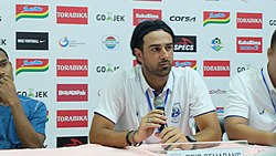 Coach Annese in Press Confrence after game versus PSMS Medan.jpg