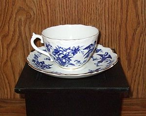 English: Coalport china tea cup and saucer. Co...