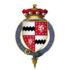 Coat of arms of Sir Thomas West, 8th Baron De La Warr, KG.png