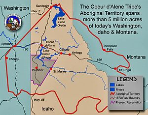 United States v. Antelope - Map showing location of Coeur d'Alene reservation