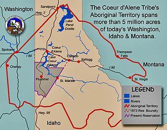 Coeur d'Alene people - Coeur d'Alene Tribe original territory