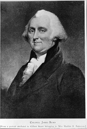 James Burd - From a portrait of Burd attributed to Gilbert Stuart