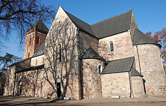 Kruszwica - Collegiate Church of Saint Peter and Saint Paul, built in 12th century, is one of the best preserved examples of Romanesque architecture in Poland