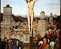 Collaboratore di Jan Van Eyck, crocifissione, 1436-1440 ca. (galleria franchetti) 02 città.jpg