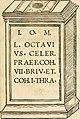 Collectanea antiqvitatvm in vrbe atqve agro Mogvntino repertarvm (1525) (14597463767).jpg