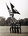 Colors and color guard, U.S. Naval Academy, Annapolis, Maryland, October 31, 1942 (38493562240).jpg