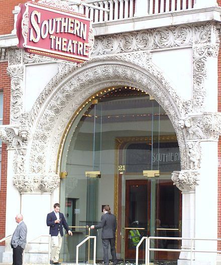 The Southern Theatre, built in 1896, is a federally designated historic site Columbus Southern Theater.jpg