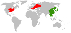 Green = Native, Red = Introduced