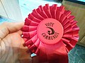Communist Party of Britain rosette for 2017 West Mids Mayor election.jpg