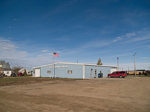 Ross, North Dakota - Community Building in Ross