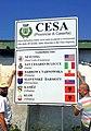 Comune di Cesa (Caserta), Pannello gemellaggi con Borough Netcong (Usa) e San Cesario di Lecce.jpg