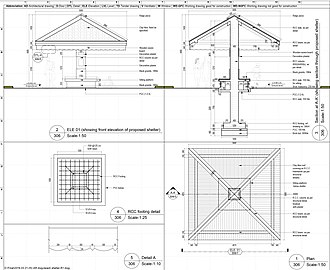 Technical drawing - An example of a drawing drafted in AutoCAD